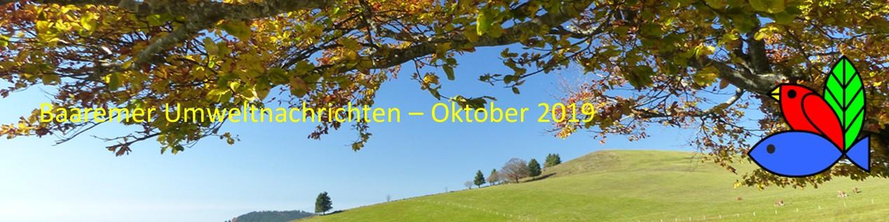 Baaremer Umweltnachrichten - Oktober 2019